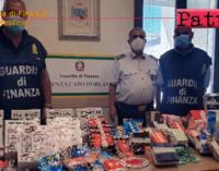 CAPO D'ORLANDO – Maxi sequestro articoli per fumatori in vendita senza autorizzazioni.