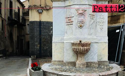 SAN PIERO PATTI – Restaurata la Fontana del Tocco
