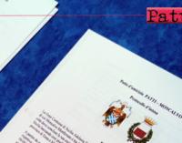 PATTI – Gemellaggio istituzionale tra il comune di Patti e il comune di Moncalvo (Asti)
