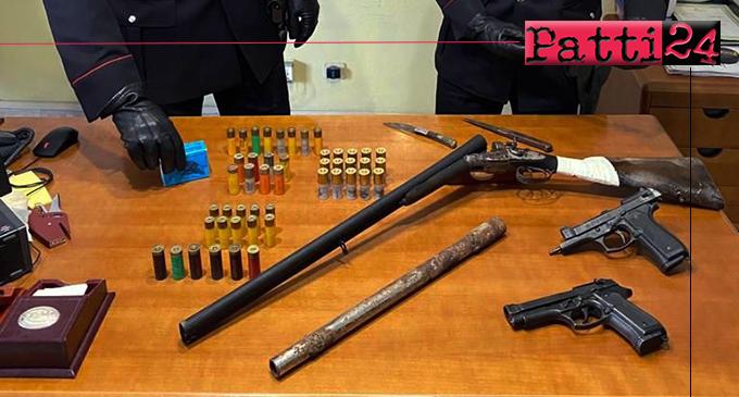 CARONIA – Controlli nelle campagne di Caronia. Due arresti ed una denuncia per detenzione illecita di armi  clandestine e munizioni.