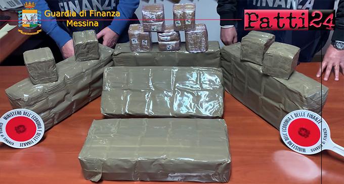 TORRENOVA – Rinvenuti e sequestrati 600 panetti di hashish abbandonati sul litorale.