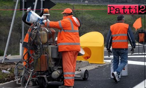 MESSINA – Lavori di ripristino barriere danneggiate da incidenti nella tangenziale A20 tra Tremestieri e Villafranca