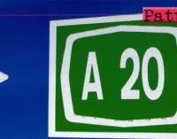 A20 – Martedì 9 iniziano anche i lavori di rifacimento della pavimentazione