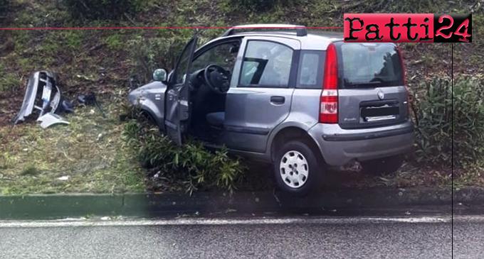 A20 – Perde controllo dell'auto, ribaltandosi. Conducente, fortunatamente illesa