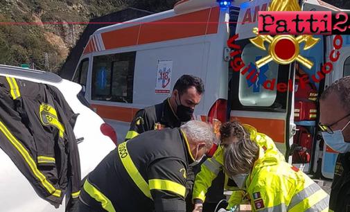 A20 – Avverte malore in autostrada zona Calavà ed ha prontezza di fermarsi. Uomo soccorso dai Vigili del Fuoco