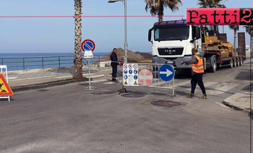 CAPO D'ORLANDO – Iniziati gli interventi contro l'erosione sulla spiaggia del Lungomare Doria
