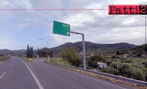 A20 – Il 14 e il 15 chiuso in uscita lo svincolo di Patti per il rifacimento del manto stradale