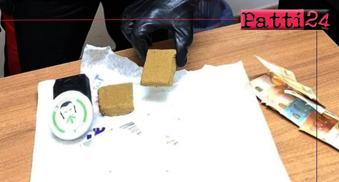GAGGI – Più di 100 gr di hashish in casa. Arrestato 25enne.
