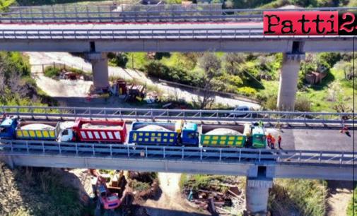 """A20 – Viadotti """"Tonnarazza"""" e """"Torregrotta"""" sicuri e percorribili dopo le prove odierne"""
