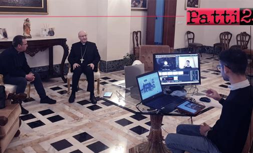 """PATTI – Mons. Giombanco ai giovani della diocesi al 5° incontro on-line : """"E' sempre bello potervi incontrare …"""""""