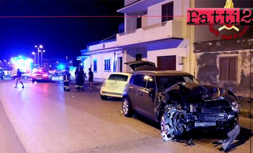 MESSINA – Due gravi incidenti nella notte a Terme Vigliatore e Barcellona Pozzo di Gotto. Feriti trasportati in ospedale.