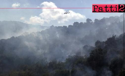LIBRIZZI – Incendio in località S.Opolo. In azione gli elicotteri