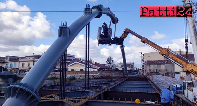 BARCELLONA P.G. – Realizzazione nuovo ponte di Calderà. Gli interventi sono in fase avanzata di esecuzione