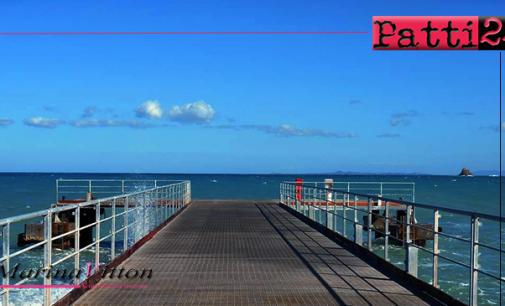 PATTI – Intervento di manutenzione al pontile di Marina di Patti.