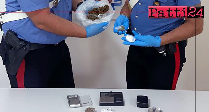 BARCELLONA P.G. – Detenzione di sostanza stupefacente ai fini di spaccio. Arrestati due conviventi.