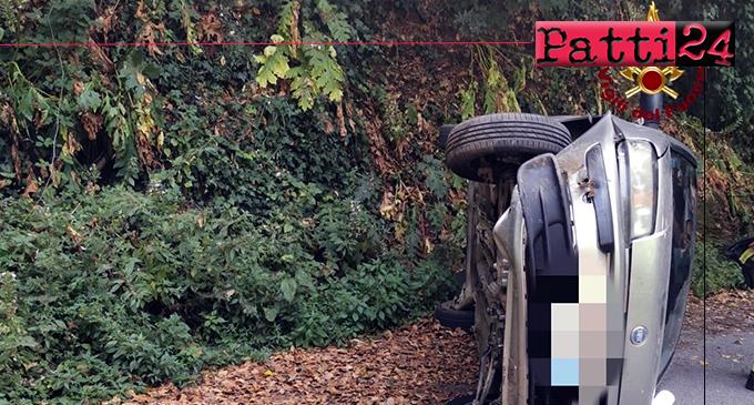 GIOIOSA MAREA – Incidente autonomo in località San Giorgio. La conducente urta roccia di un costone facendo ribaltare la vettura, riportate lievi ferite.