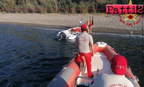 MONFORTE SAN GIORGIO – Vigili del fuoco soccorrono imbarcazione in panne al largo delle coste diMonforteMarina