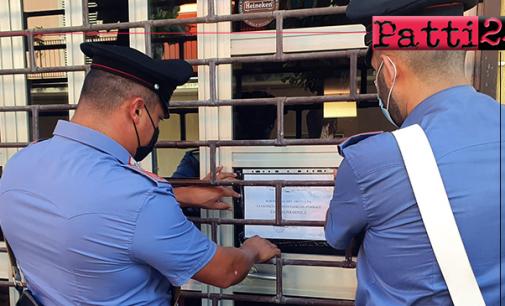 SAN FILIPPO DEL MELA – Sospesa per 15 giorni attività di un locale pubblico