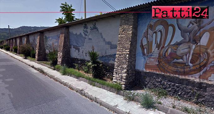 PATTI – Murales di viaOrti. Realizzati aderendo ad un concorso nazionale nel 1987, purtroppo, si stannodeteriorando.