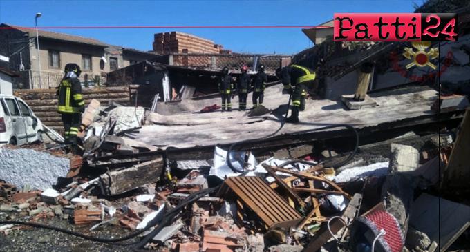FONDACHELLO VALDINA – Esplosione distrugge una bottega. Cause in fase di accertamento.