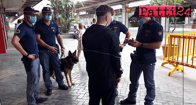 """SICILIA – Operazione della Polfer """"Stazioni Sicure"""". Elevate 3 sanzioni, a Messina 28enne tunisino trovato in possesso di hashish."""