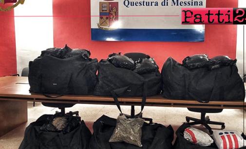 MESSINA – Sequestrati circa 106 chili di marijuana. Arrestati trafficanti di droga messinesi in flagranza di reato.